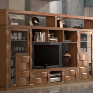 Mueble de salón roble 03