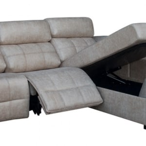 Sofá chaiselongue con relax eléctrico
