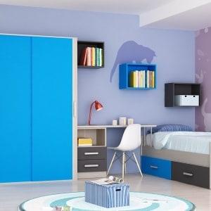 Composición juvenil con armario puertas correderas