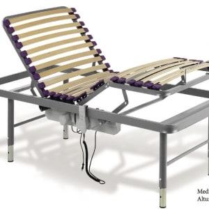 Cama geriátrica arriostrada articulada eléctrica elevación manual