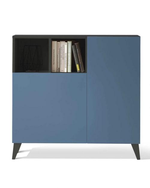 Mueble auxiliar grafito azul