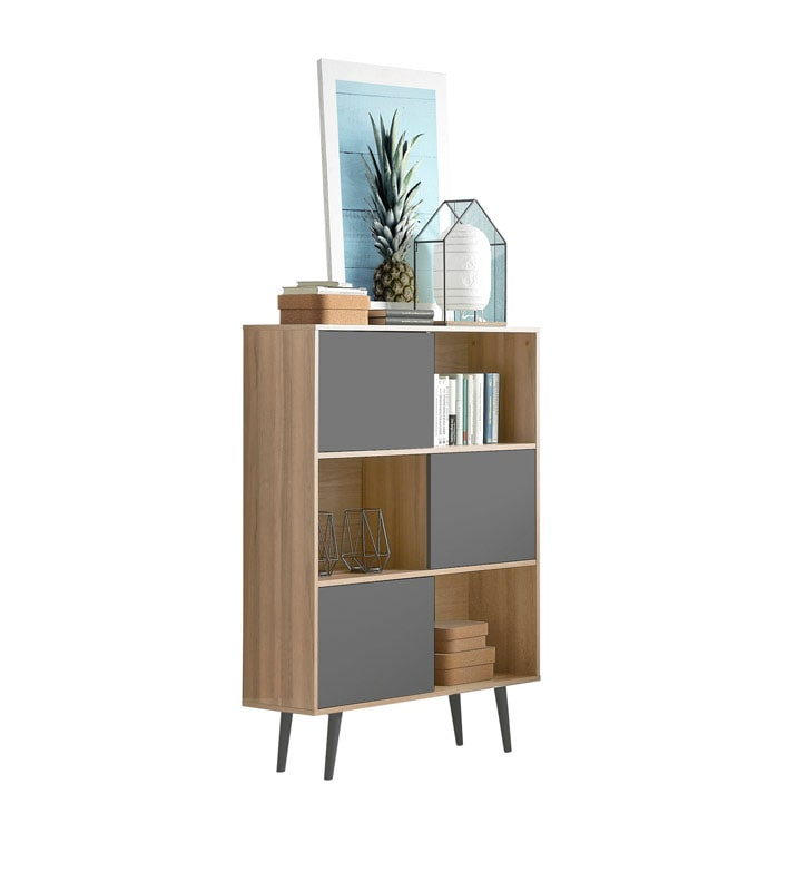 Mueble auxiliar roble gris